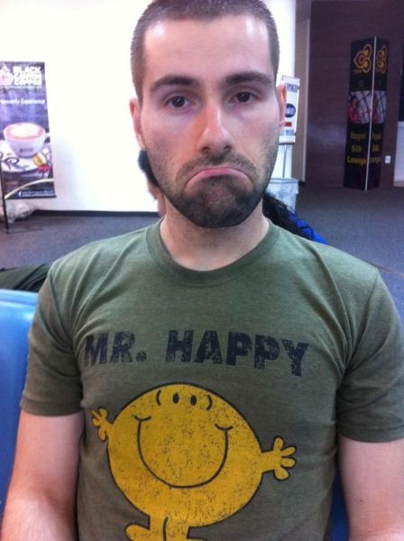 Seb with his Mr Happy T shirt
