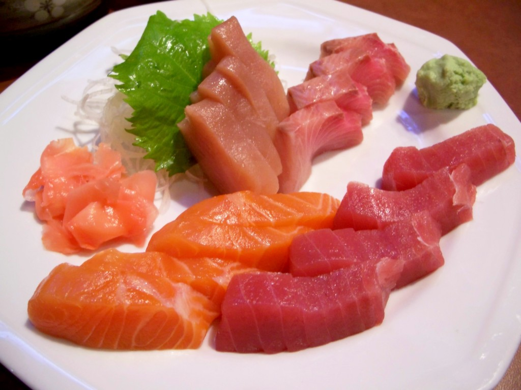 Sushi and the tsukiji fish market in tokyo japan for Is sushi raw fish