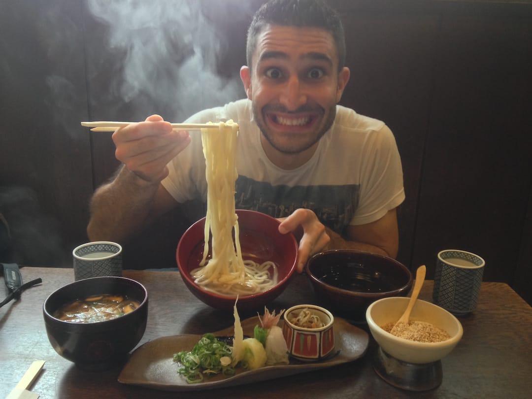 Yaki udon recipe Stefan in Kyoto