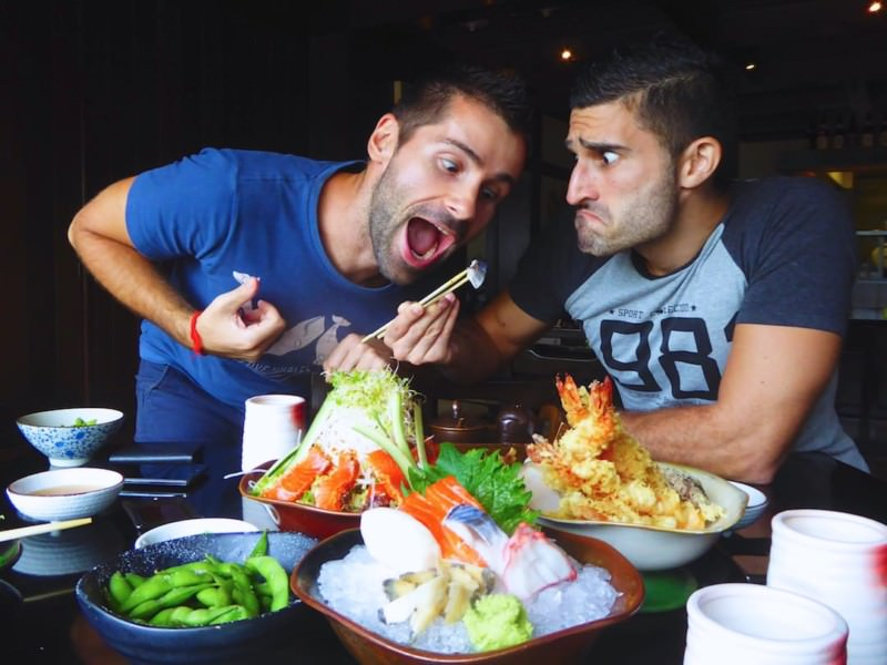 Gay couple travelling gay travel blog culinary discoveries