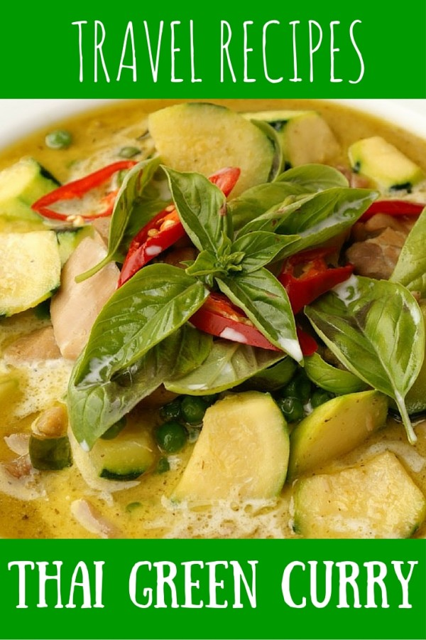 Travel recipe for Thai green curry