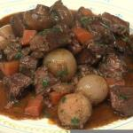 French beef Bourguignon recipe