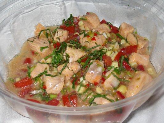 Peruvian salmon ceviche recipe