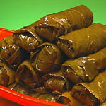 Greek stuffed vine leaves recipe