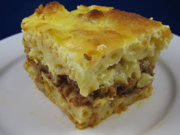 "Pastitsio (""παστίτσιο"" in Greek), is a Greek baked pasta ..."