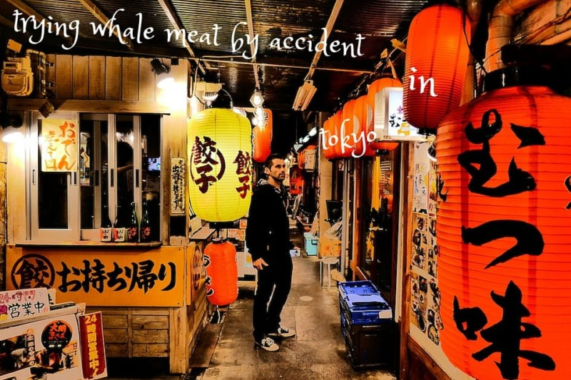 Trying whale meat in Tokyo by accident Izakaya Seb