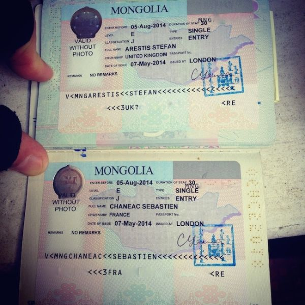 trans siberian visa Mongolian visas