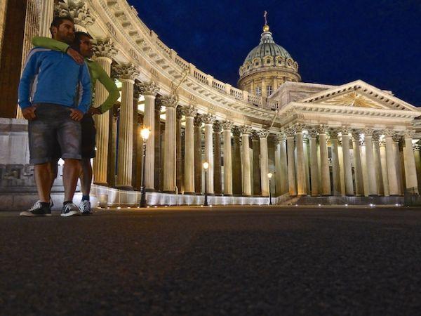Cathédrale de Kazan de nuit
