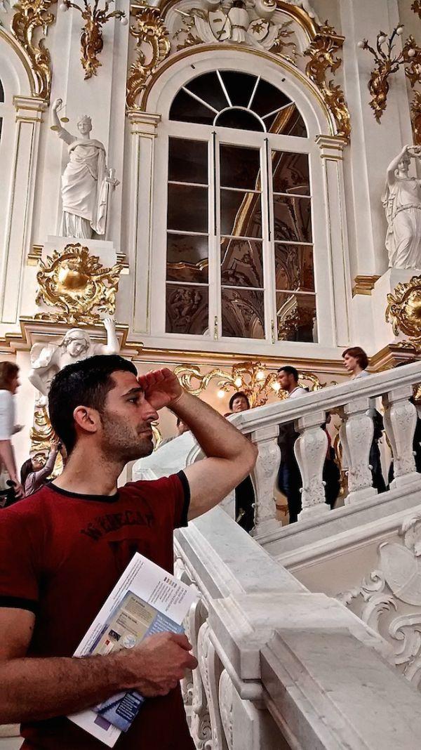 L'escalier de Jordanie au musée de l'Ermitage