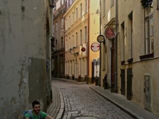 Stefan posing in Riga's Old Town