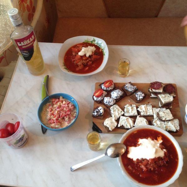 Home made Russian Borscht soup