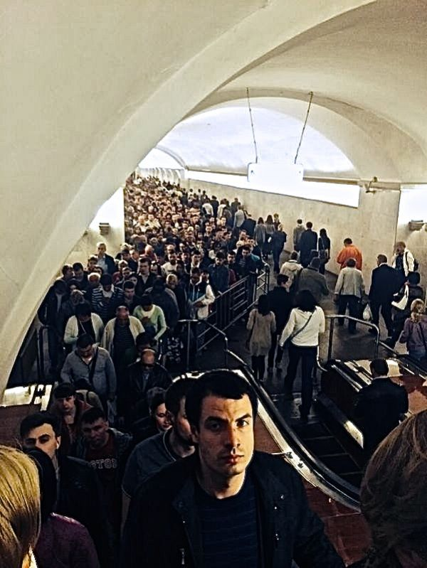 Moscow's Metro during rush hour