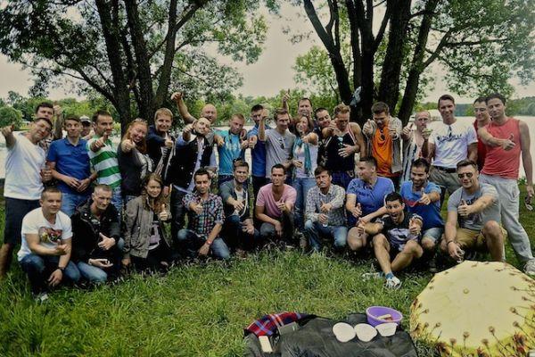 Barbecue à la Russe avec nos amis de Moscou