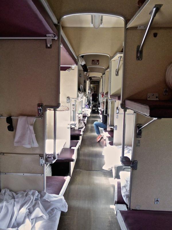 "Third class ""platzcart"" - like being in a 54 bed dorm"