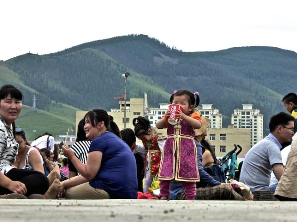 The Naadam spectators outside the main stadium