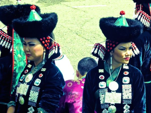 Costumes at Naadam festival's opening ceremony