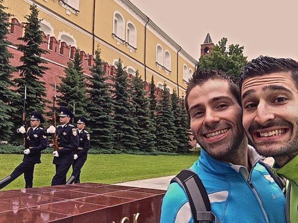 Changement de la garde de la tombe du soldat inconnu à Moscou