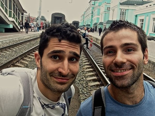 Our selfie at Omsk platform
