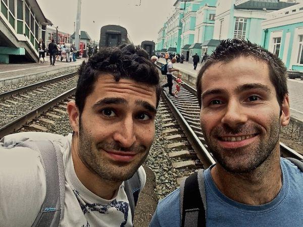 Petite photo sur le quai de la ville de Omsk