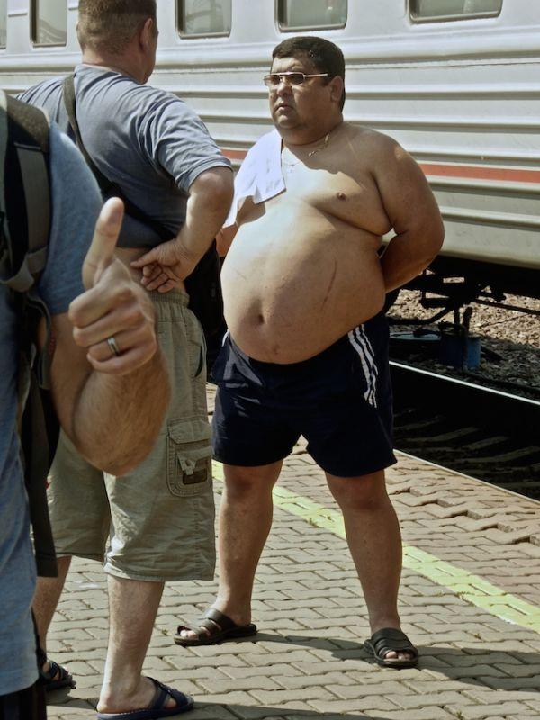 Bathing in the heat at Krasnoyarsk platform