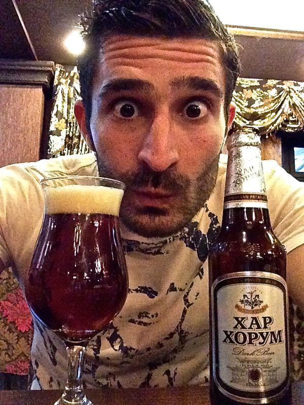 Mongolian beer selfie