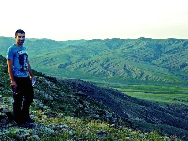 Sebastien admiring the landscape at Khustain National Park