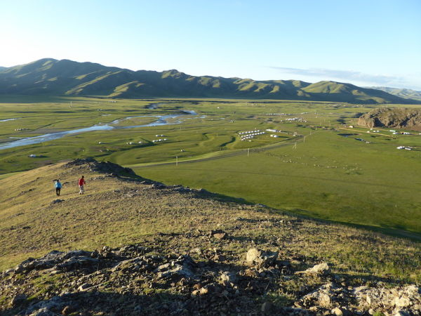 The Orkhon valley landscape