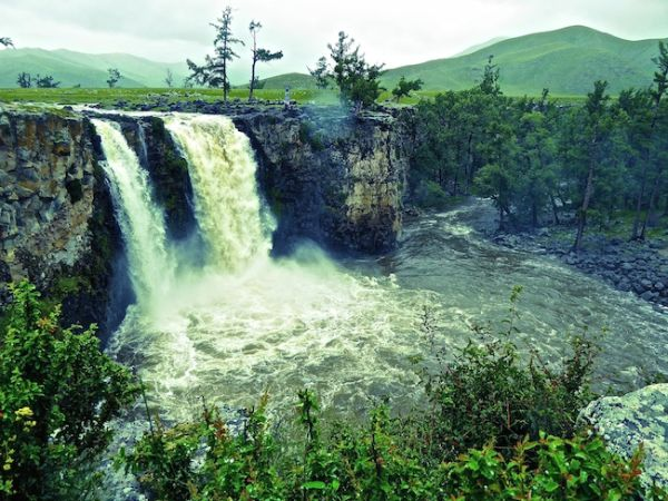 The Orkhon Khurkhree waterfall