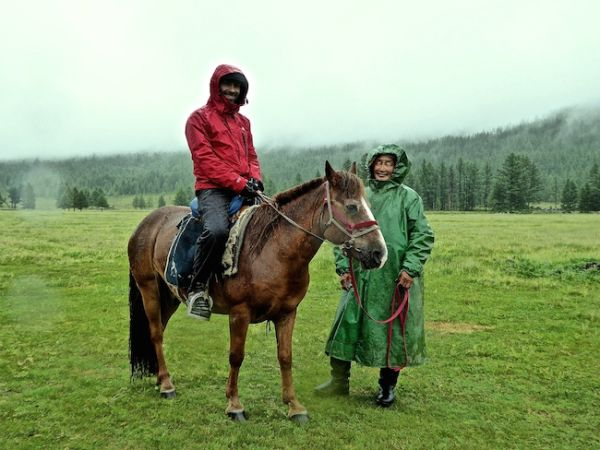 Sebastien about to commence our long horse riding trek through the Orkhon valley