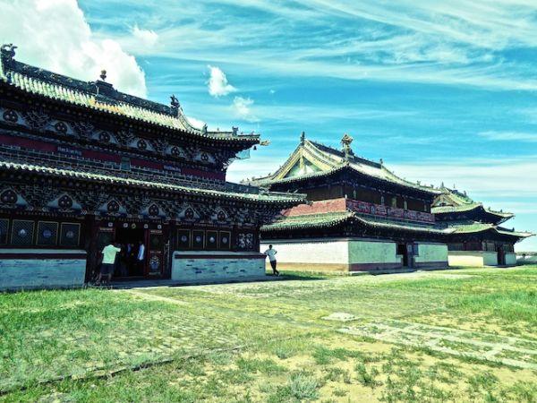 The Erdene Zuu monastery at Kharkhorin