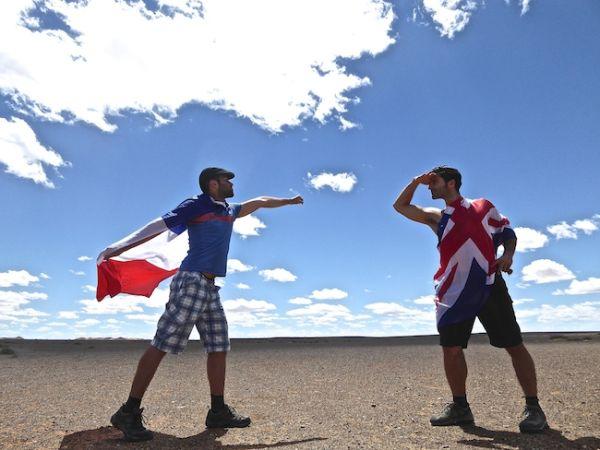 Super français et Super anglais dans le désert de Gobi
