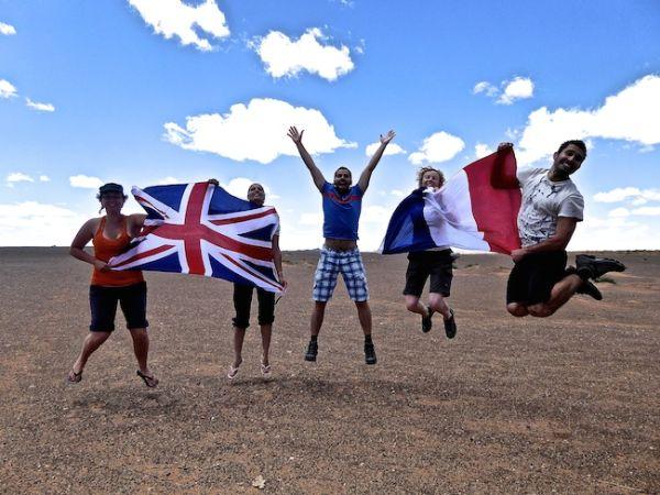Silly Gobi fun with fellow travel bloggers