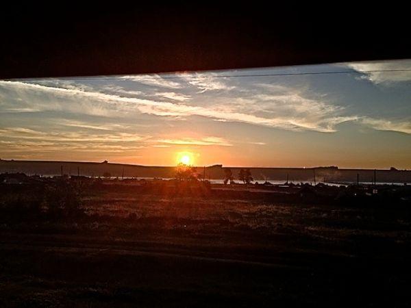 Sunset over Siberia