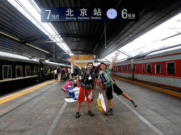Nomadic Boys arriving in Beijing after a 30 hours train journey from Ulan Bator