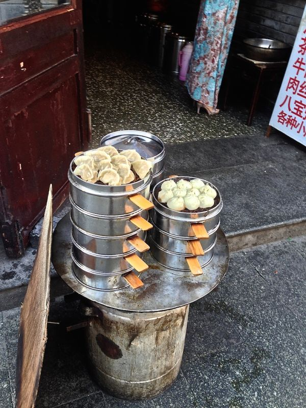 Freshy made dumplings sold in Beijing's hutongs