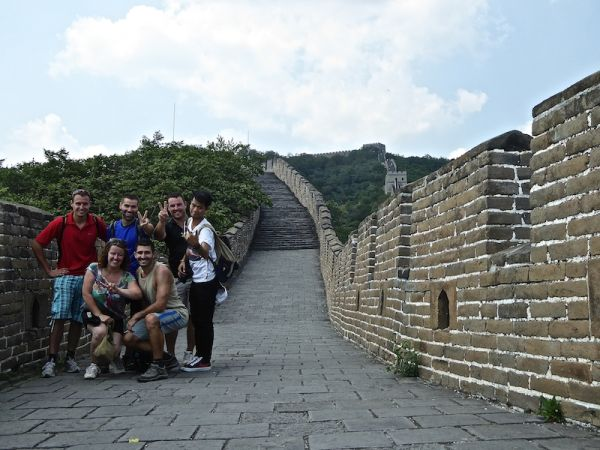 Photo de groupe sur la muraille de Chine