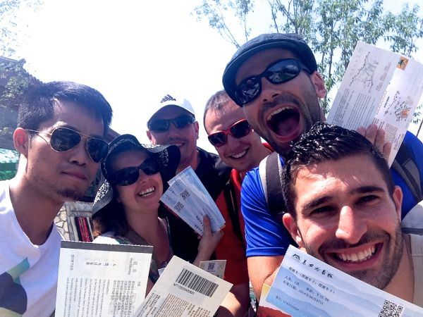 Our Mutianyu Great Wall group selfie