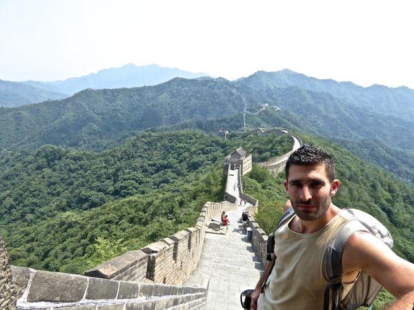 Stefan at Mutianyu at The Great Wall of China