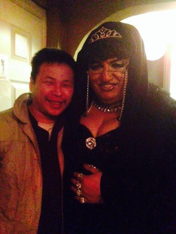 Zorig and friend at Hanzo gay club Ulan Bator