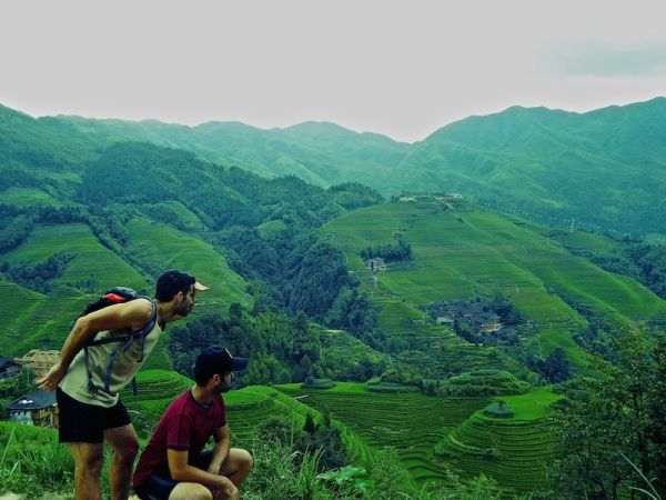 Longji rice terraces: spot the dragon