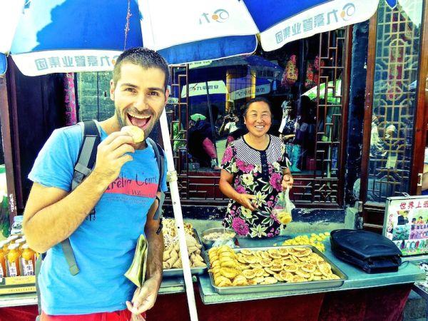 Les pancakes à la banane, spécialité de Pingyao