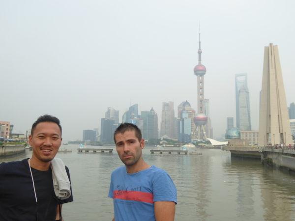 The haze of pollution covering the Shanghai skyline