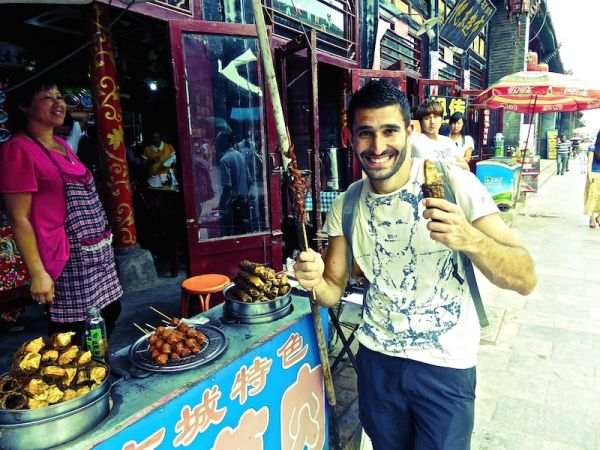 nourriture de rue dans la vieille ville de Pingyao