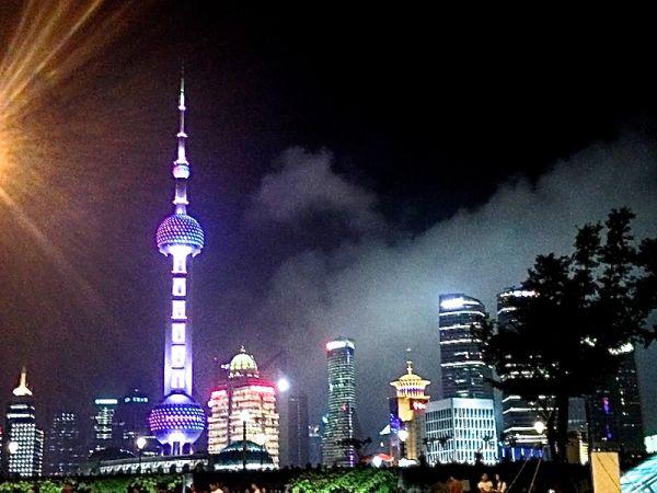 Night view of Oriental Pearl Radio & TV Tower