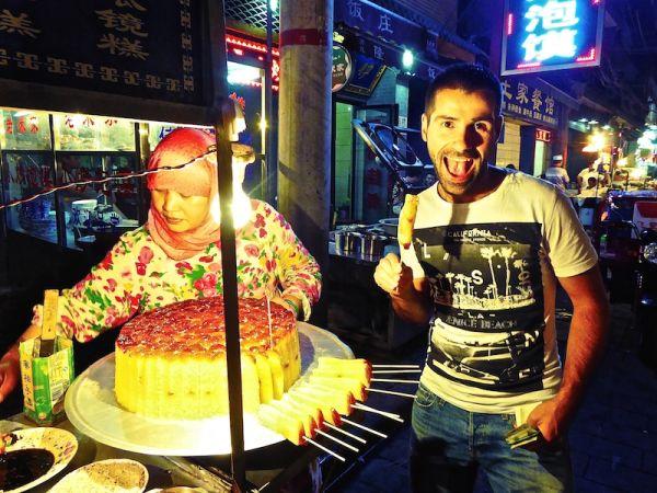 Gui hua gao,dessert à base de riz gluant dans le quartier musulman de Xi'an