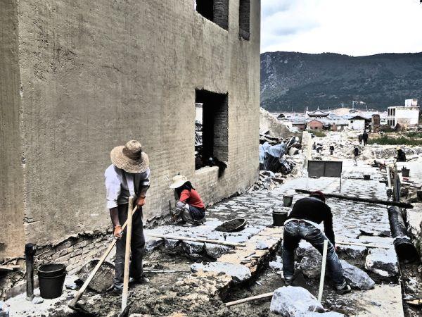 Shangri-La's old town today being rebuilt