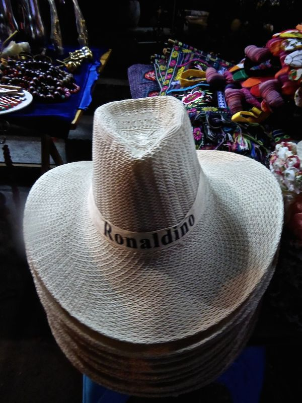 Ronaldino hats sold in Dali, popular with Chinese men