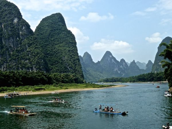 The beautiful landscape near Xingping Village
