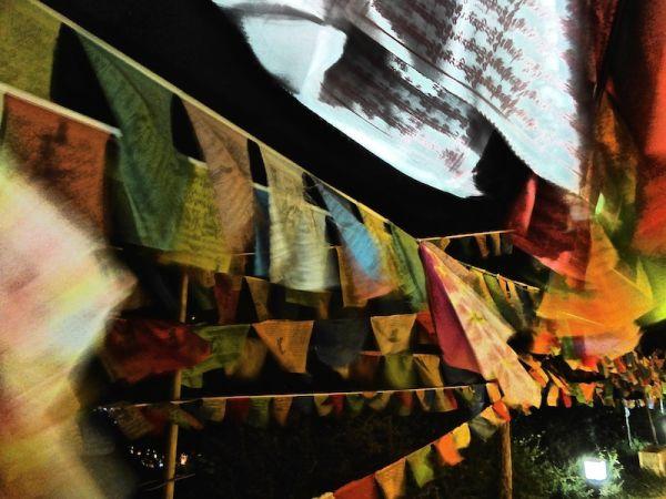 The colourful prayers at Shangri-La's Guishan Temple