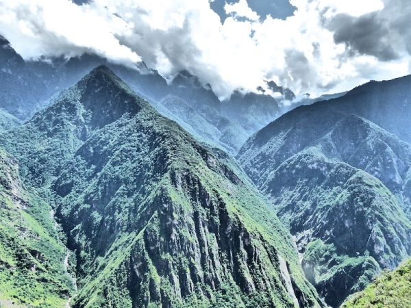 Views of the mountains during the Tiger Leaping Gorge Trek